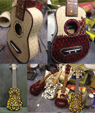 images of ukuleles by Ominshambles